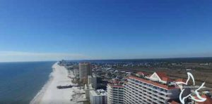 West beach from the Lighthouse in Gulf Shores